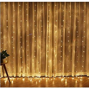 Twinkle Star 304 LEDs Window Curtain String Lights 3M x 3M