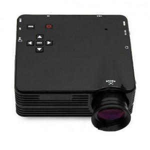 LZ-H80 80 Lumens Portable Mini LED Projector 1080P HD Support HDMI AV VGA SD Card Input