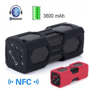 NFC Wireless Power Bank Bluetooth 4.0 Speaker with 3600mAh Battery