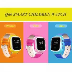 GPS Kid Smart Watch Wristwatch Children SOS Call GSM Locator Map Q60