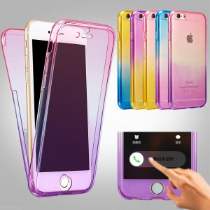 Shockproof 360° Silicone Protective Clear Case  For  iPhone 6 6s /6 Plus