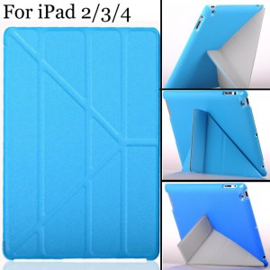 Smart Case Folding Cross For iPad 2 3 4 Case Cover