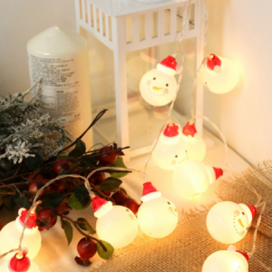 Snowman Led String Lights Christmas Fairy String Lights Xmas Outdoor Decor Lamp