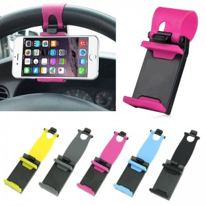 Steering Wheel Car Phone Holder Mount for iPhone 6 6S Plus 5S 5C 4S / Samsung