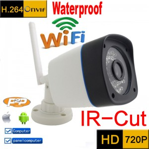 WiFi HD 720P Outdoor Waterproof Wireless IR Home CCTV Security Network IP Camera