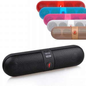 Portable Shockproof Bluetooth Wireless FM Stereo Speaker