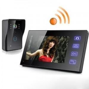 "Wireless 7"" Video Door Phone Intercom Doorbell Security Camera"