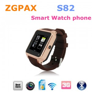 ZGPAX S82 Smart Watch phone Android 4.4 MTK6572 Dual Core GPS 3G WIFI