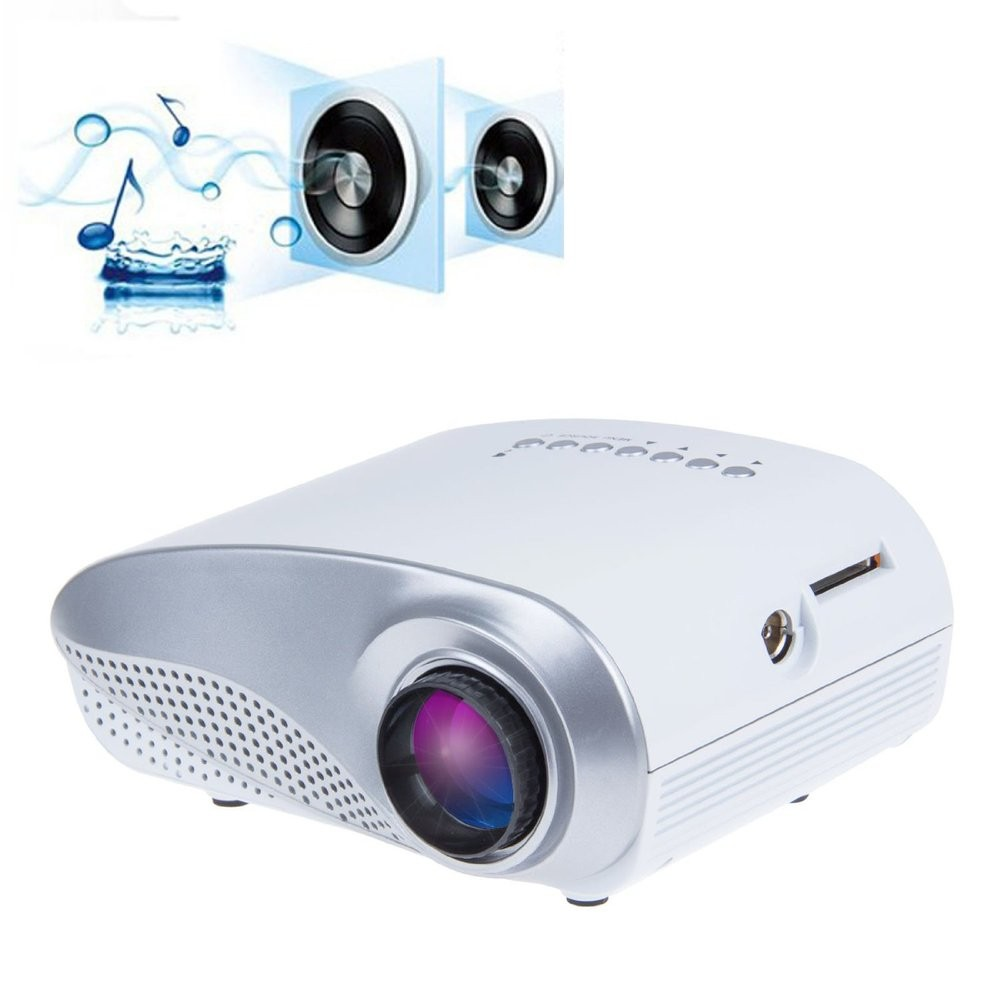 H60 Portable 3d Led Projector Lcd Multimedia Home Cinema: H60 Mini 3D LCD Projector 60 Lumens